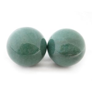 Baoding balls made from aventurine gemstone