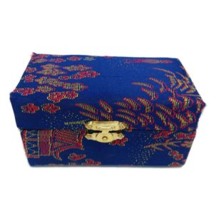 Blue baoding ball brocade box