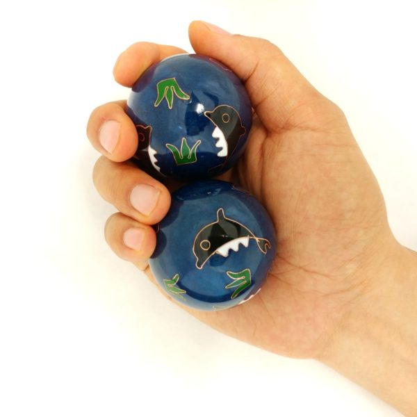 Hand holding large size baoding balls