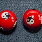 Red yin yang baoding balls