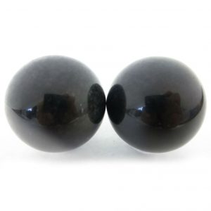 Baoding balls made from black obsidian gemstone