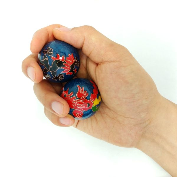 Medium size dragon and phoenix baoding balls