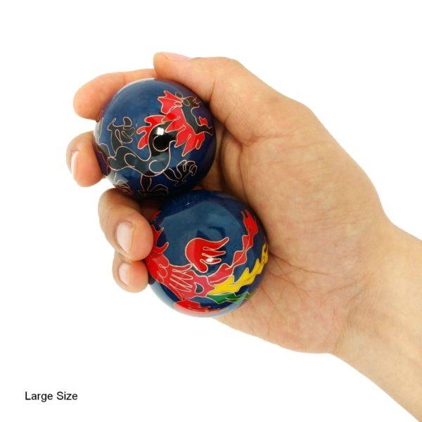 Large size dragon and phoenix baoding balls