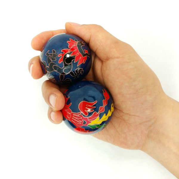Large size dragon and phoenix baoding balls