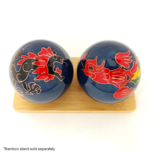 Dragon and phoenix baoding balls