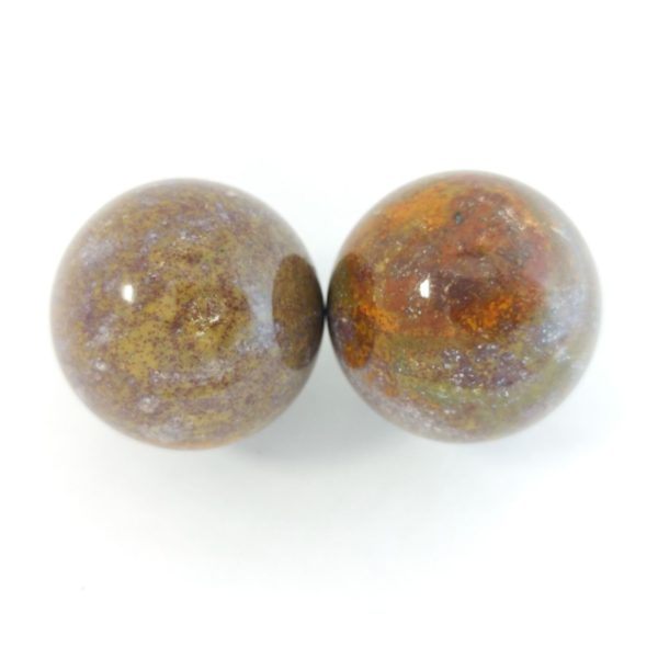 Baoding balls made from fancy jasper gemstone