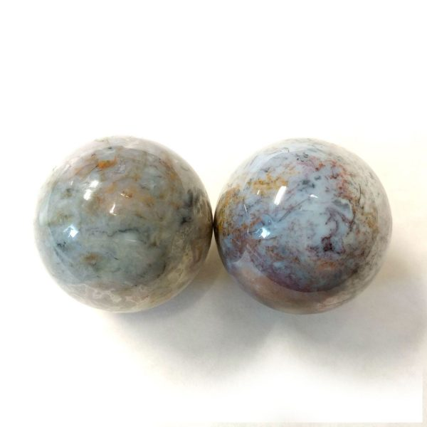 Baoding balls made from fancy jasper gemstone