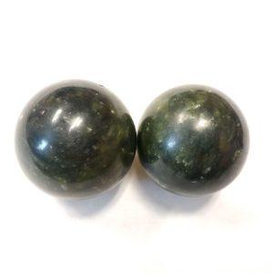 Dark Xiuyan Jade Baoding Balls