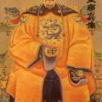Chinese emperor holding baoding balls