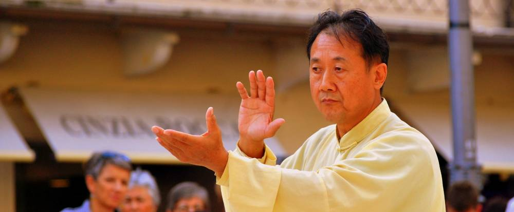 Man performing tai chi