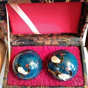 Vintage crane baoding balls