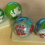 Vintage baoding balls of doves and chickens