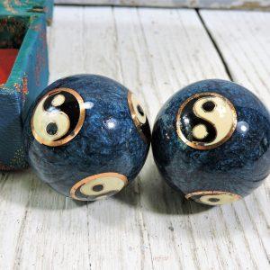 Vintage yin yang baoding balls