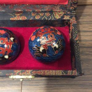 Vintage happiness baoding balls