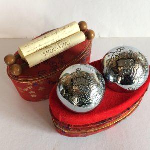 Vintage engraved baoding balls