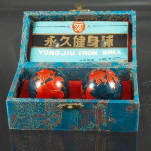 Vintage fish baoding balls