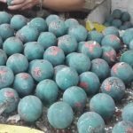 Unfinished cloisonne baoding balls after molding