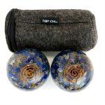 Lapis Lazuli Orgonite Baoding Balls