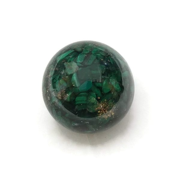 Single malachite orgonite ball