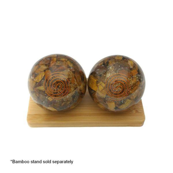 Tiger eye orgonite baoding balls