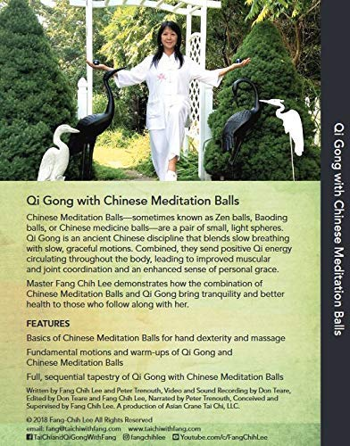 Back cover of the DVD Qi Gong with Chinese Meditation Balls by Fang-Chih Lee