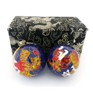 Premium dragon and phoenix with brocade box