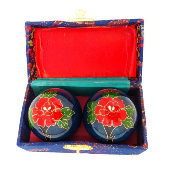 Peony baoding balls in a brocade box