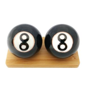 8 Ball baoding balls on a display stand