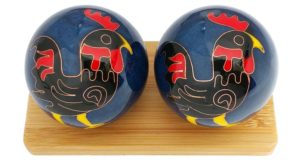 Rooster Chinese zodiac baoding balls